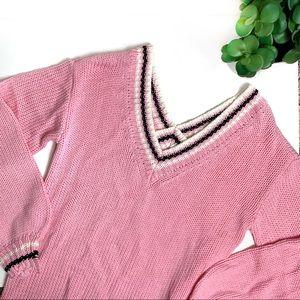 Lovers + Friends Pink Long Sleeve Sweater Dress